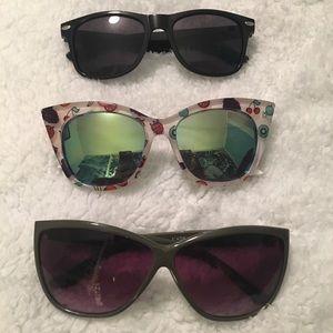 Bundle of 3 Pairs of Cute Sunglasses